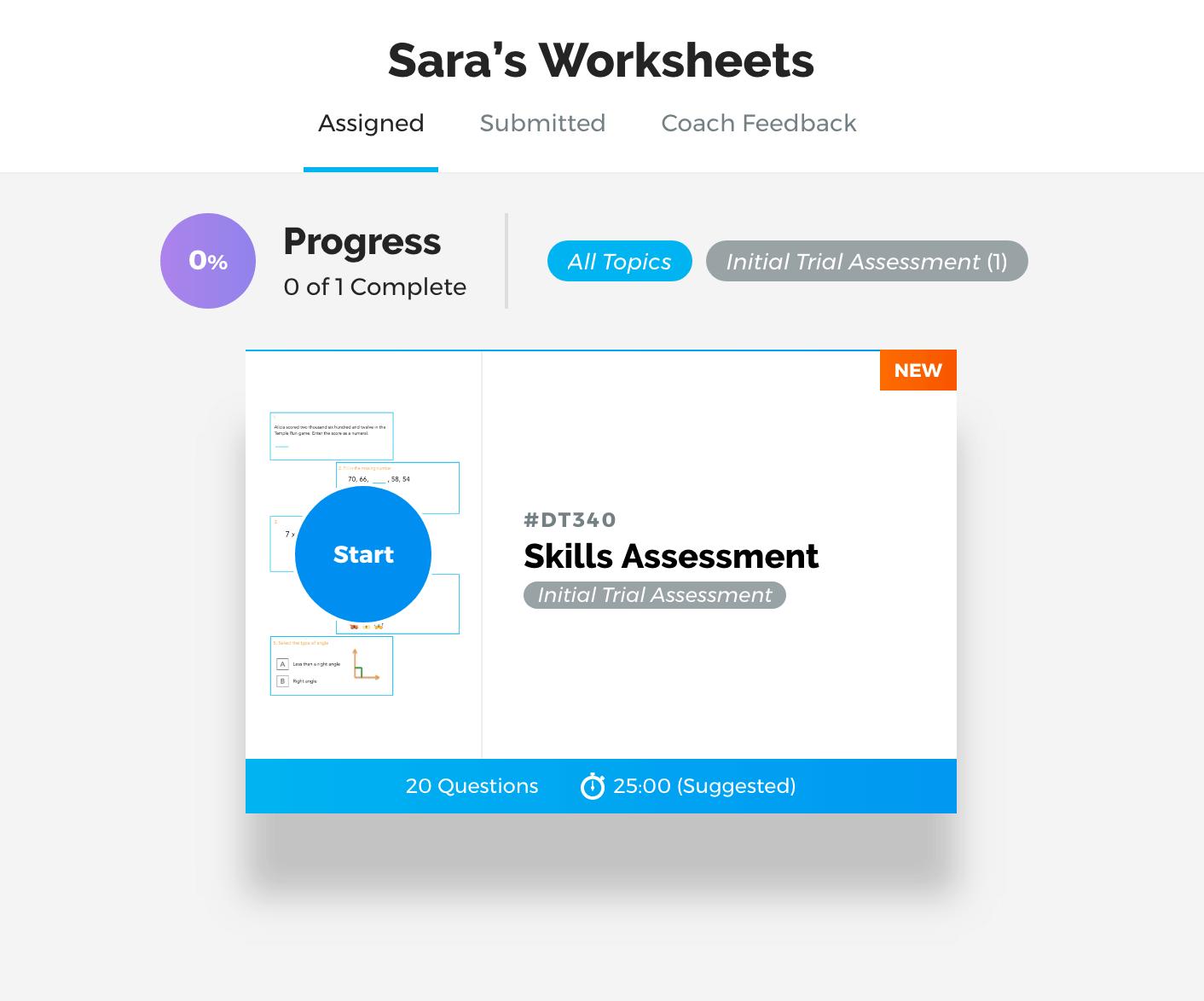 Hellothinkster Review- Skills Assessment